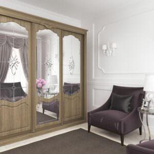 шкаф купе с дверьми мдф в классическом стиле