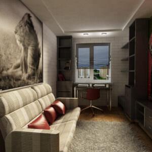 дизайн мебели в комнате подростка