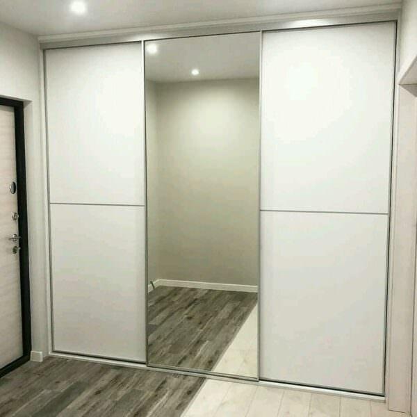 Встроенный шкаф-купе в прихожую с зеркалом 2