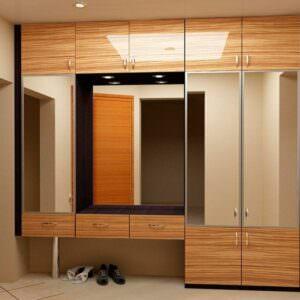 подвесные шкафы с зеркалами в прихожую